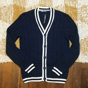 ASOS Men's Cardigan Sweater Size Small S Navy Blue